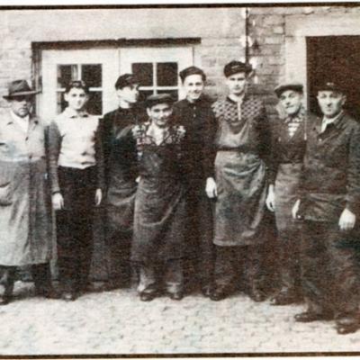 Die Firmenmitarbeiter 1957
